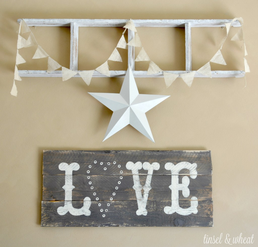 DIY Lighted Love Sign by Tinsel & Wheat