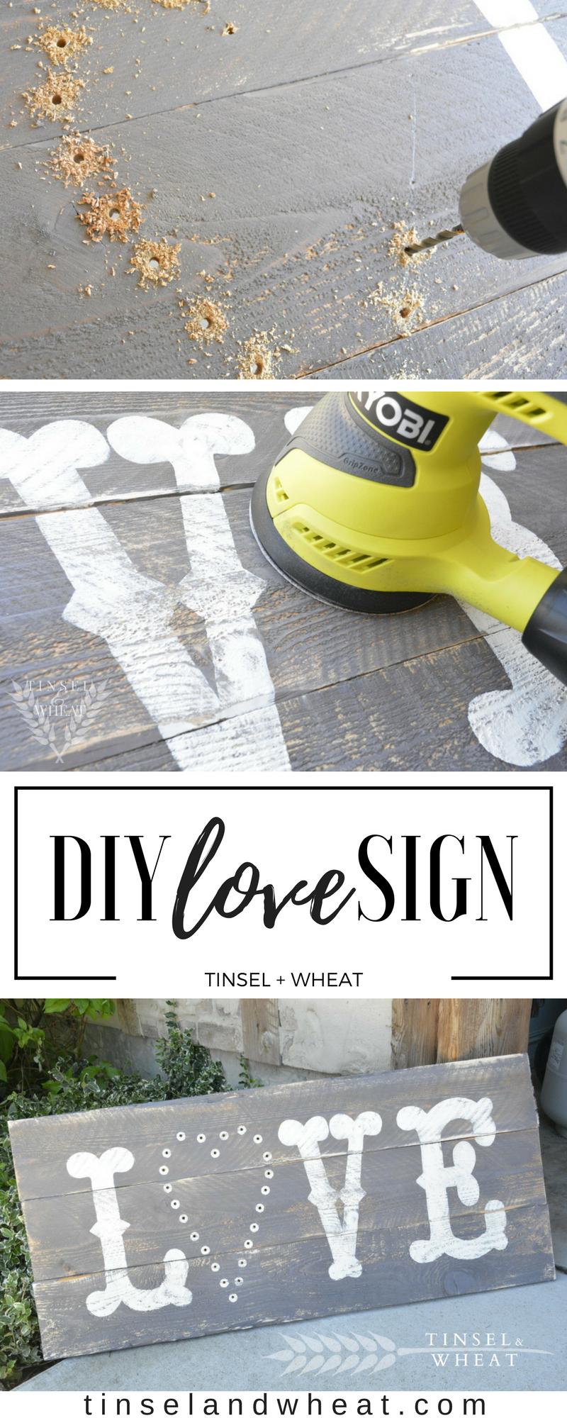 DIY Love Sign by Tinsel & Wheat (2)