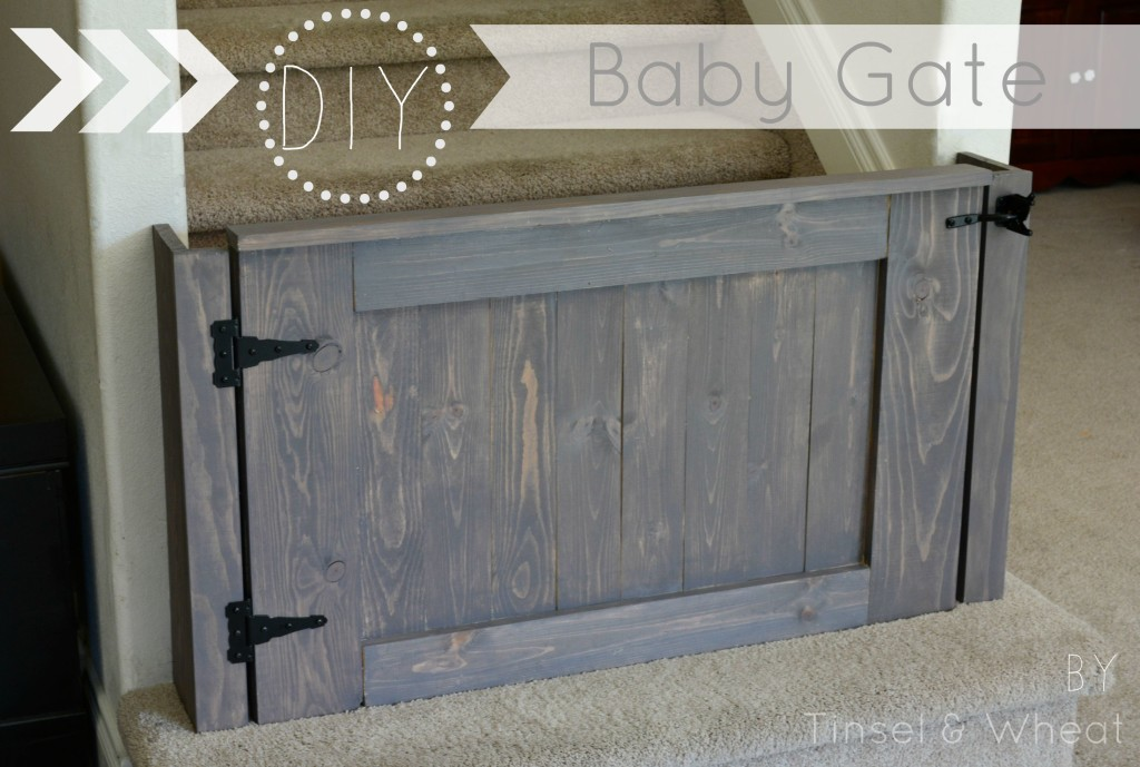 How to build a baby gate diy baby gate plans tinsel for Diy fence gate designs