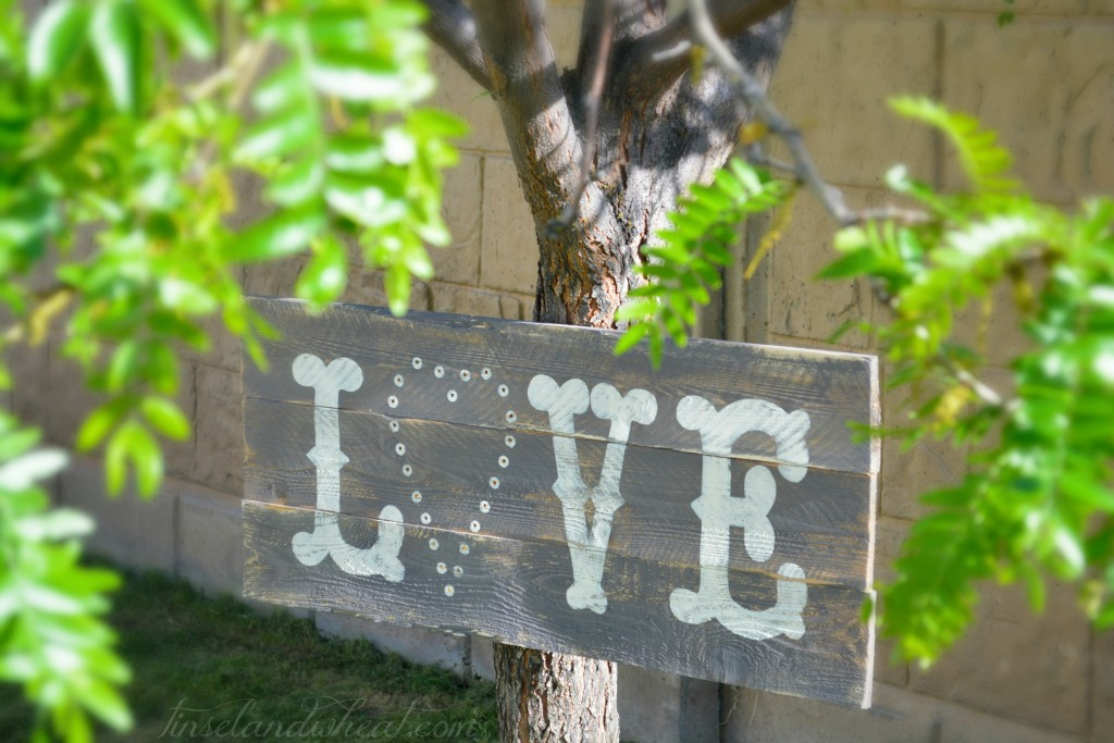 Love sign outside