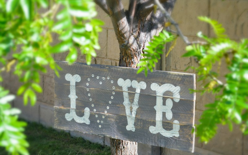 DIY Cheap & Easy Rustic Lighted LOVE Sign