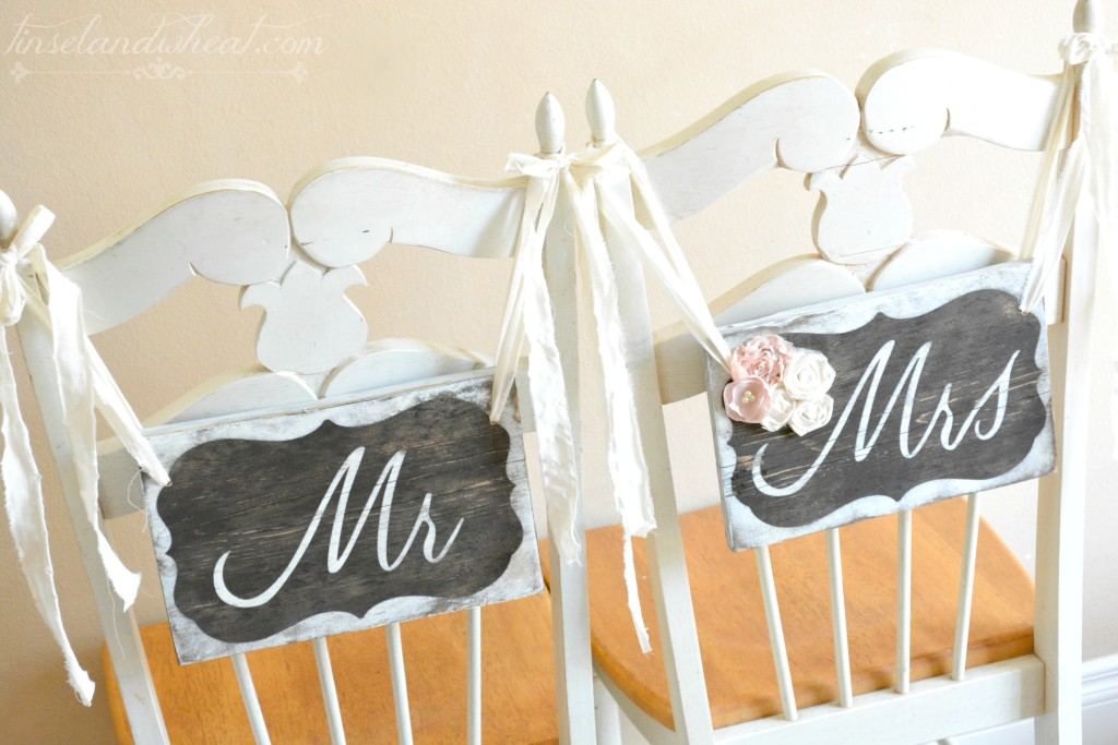 Hanging Mr & Mrs Sign