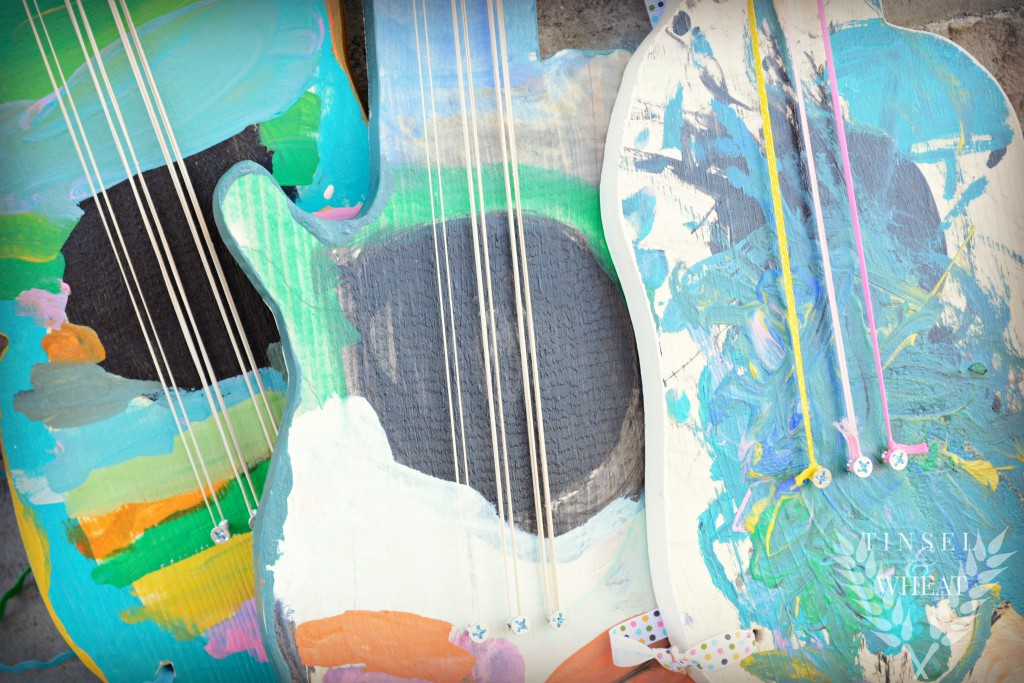 DIY Wood Guitars for Your Little Rockstars by Tinsel & Wheat