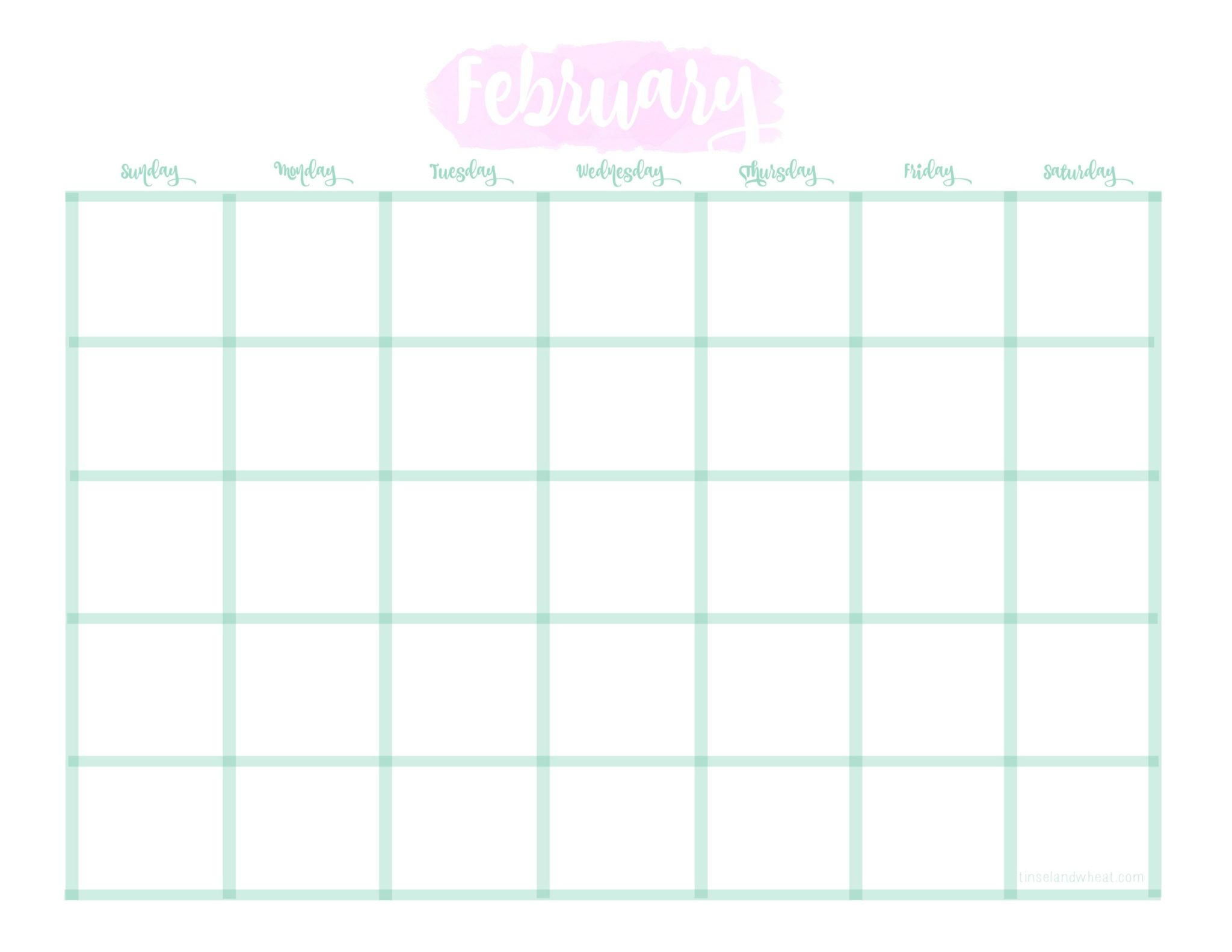 2 February Calendar by Tinsel & Wheat