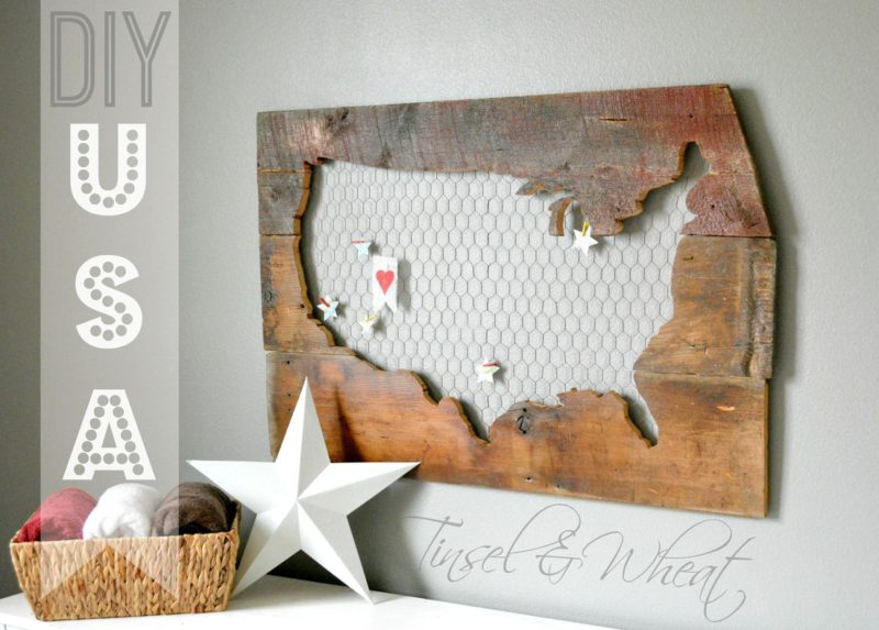 DIY Barnwood USA Sign