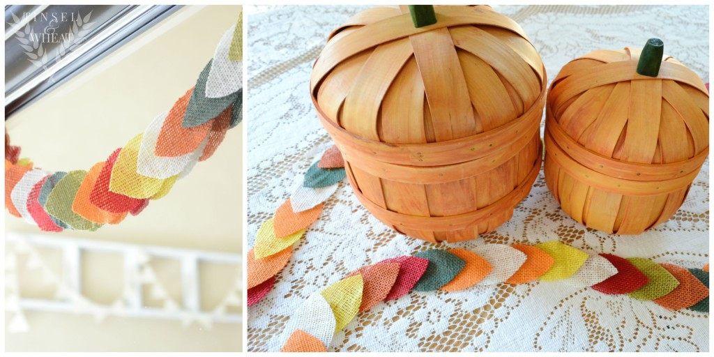 DIY Fall Garland Collage by Tinsel & Wheat