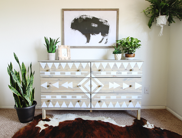Spectacular DIY Tribal Dresser Makeover