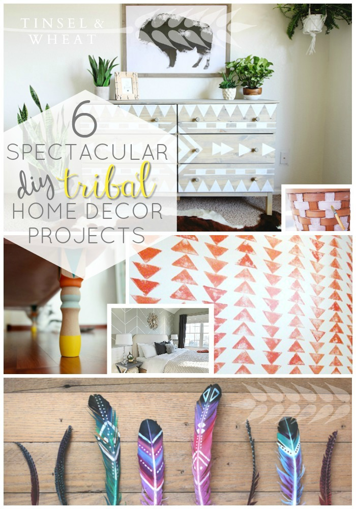 6 Spectacular DIY Tribal Home Decor Projects by Tinsel & Wheat