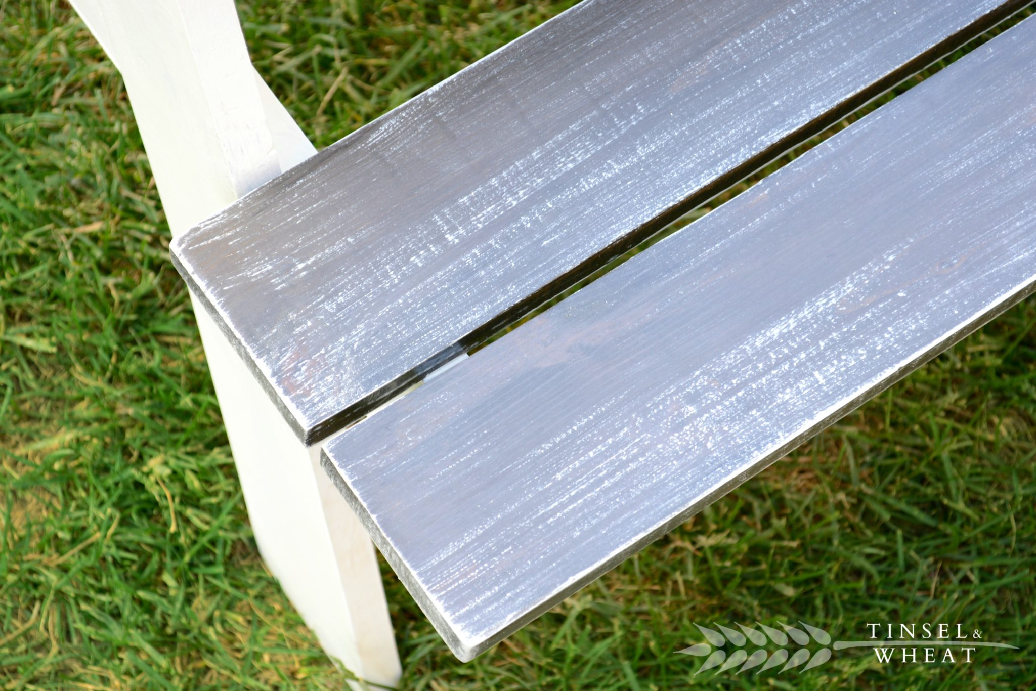 Grey Kids Picnic Table Bench Close Up 3 Restoration Hardware by Tinsel & Wheat WM