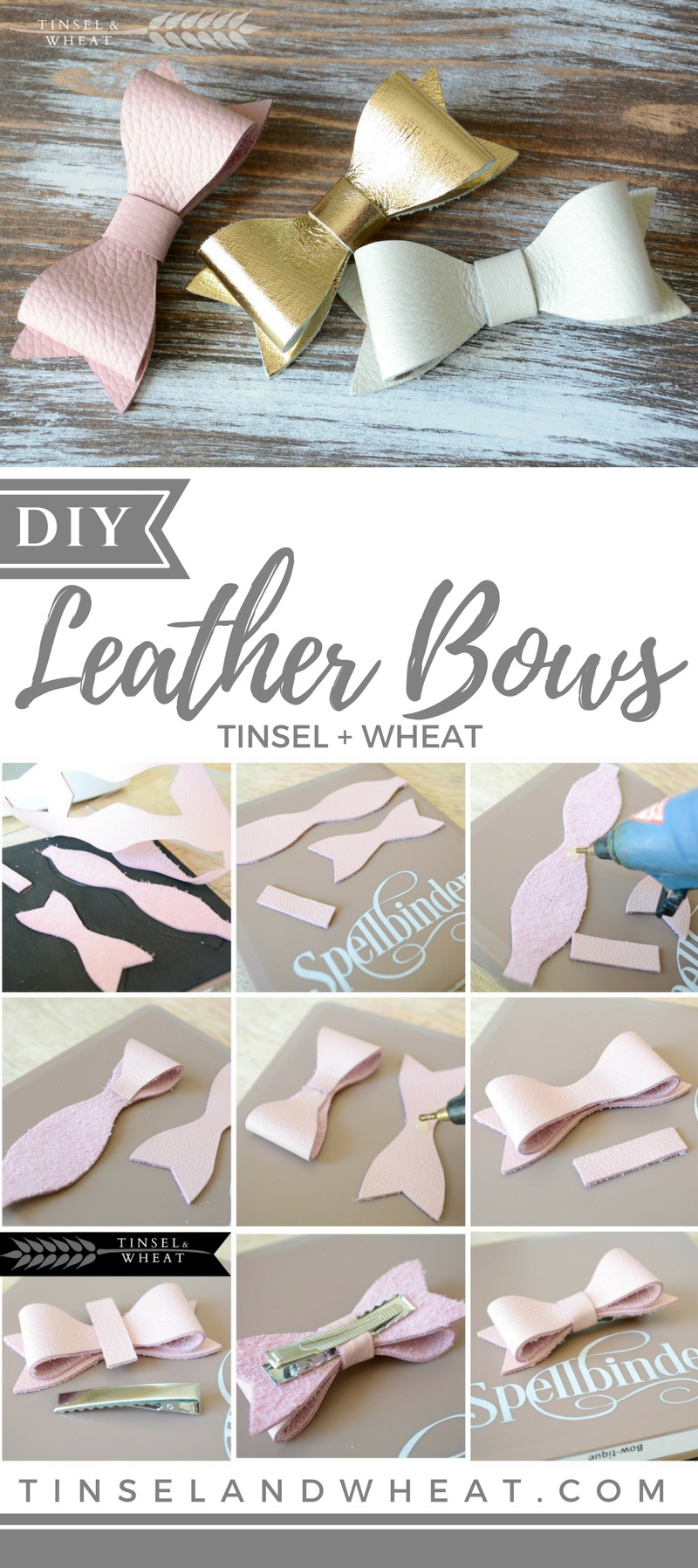 DIY Leather Bows