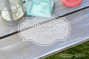 Weathered Grey Finish by Tinsel & Wheat