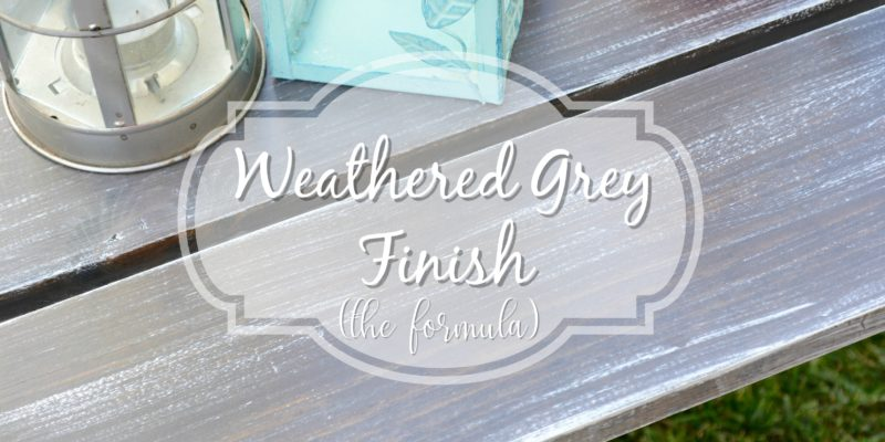 Weathered Grey Finish