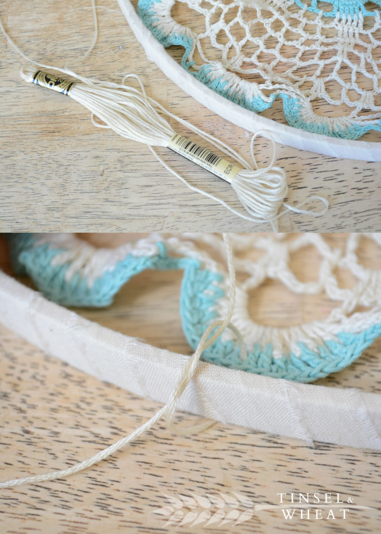 Doily Dream Catchers by Tinsel & Wheat 101