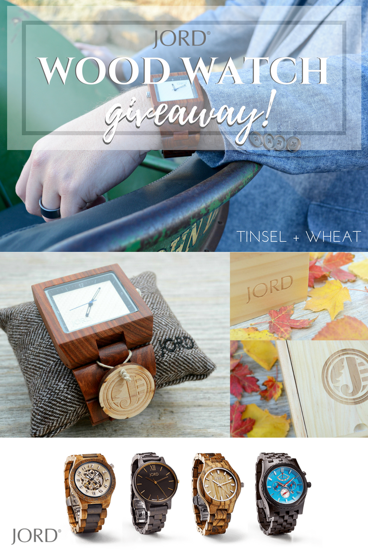 Wood Watch Giveaway - Jord