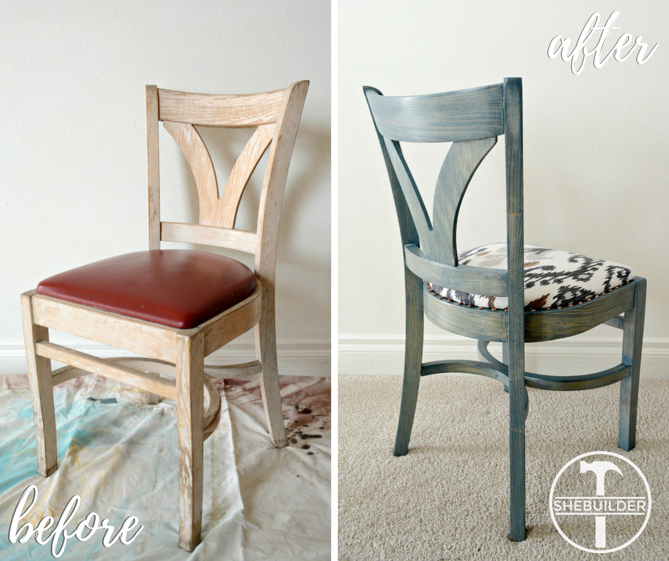 Accent Chair Makeover by Tinsel & Wheat