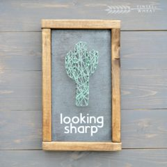 Cactus String Art – Looking Sharp