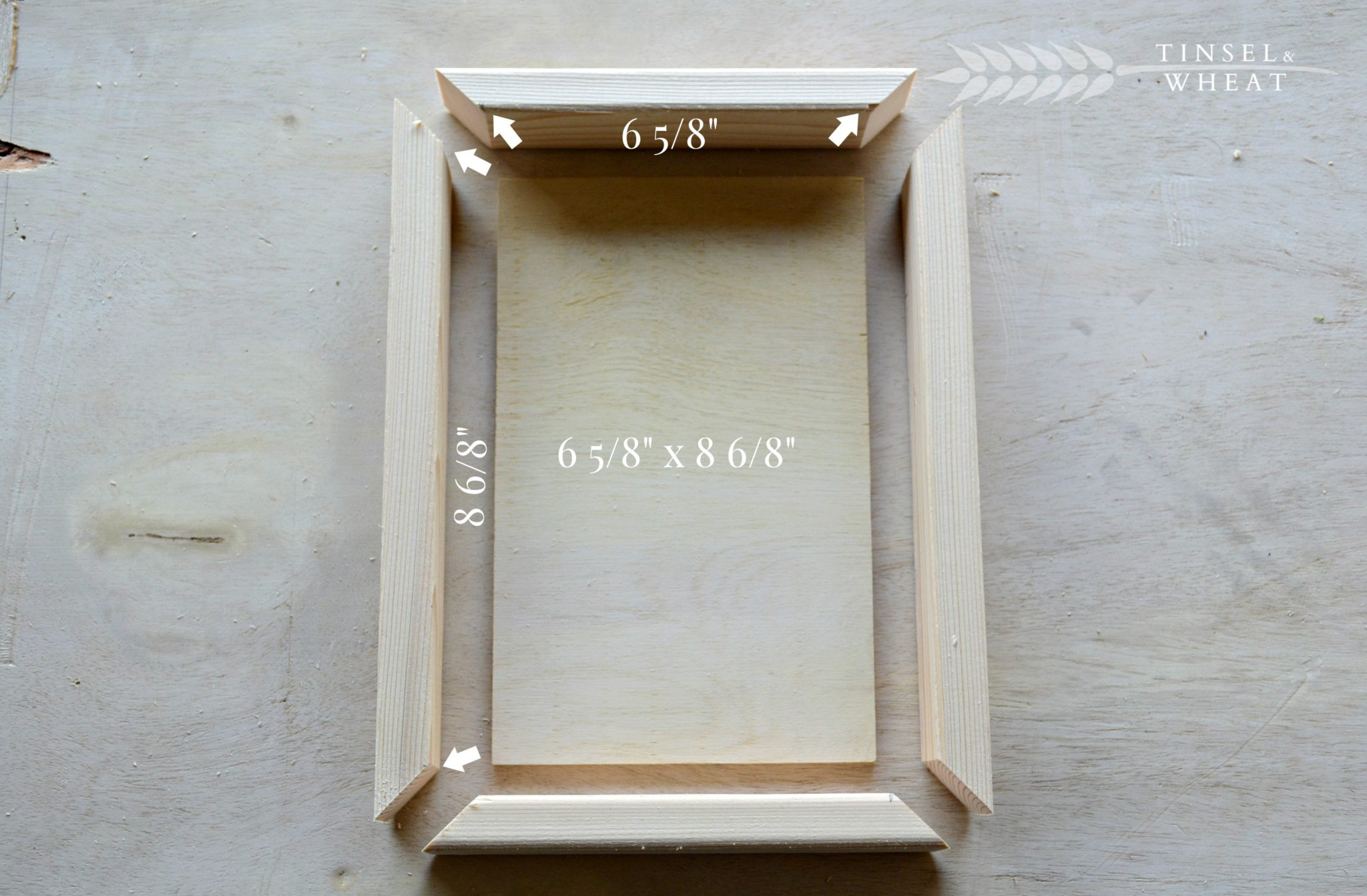 How to make a felt letter board tinsel wheat cut all frame pieces and letter board with your miter saw spiritdancerdesigns Images