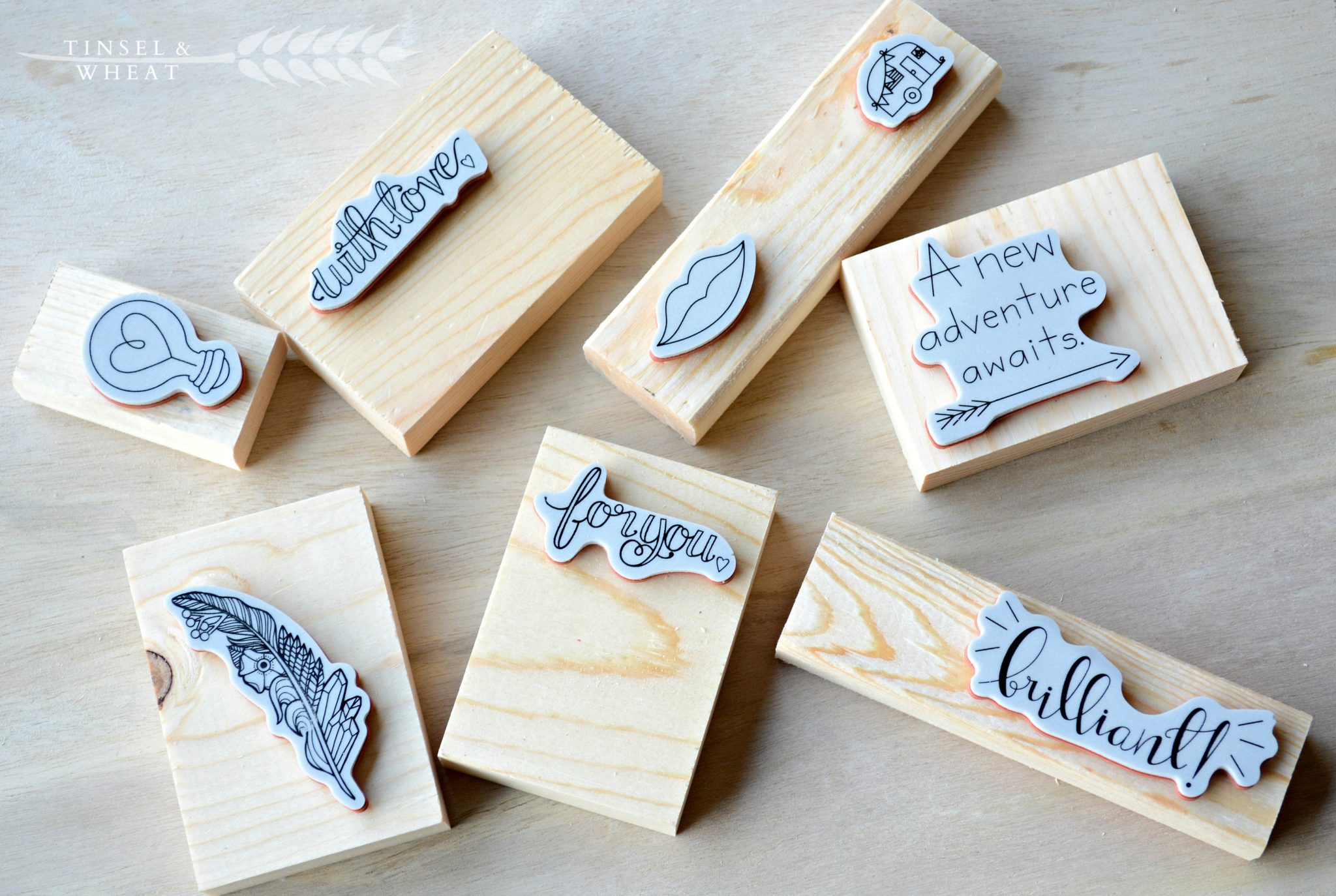 Using scrap wood to make stamps