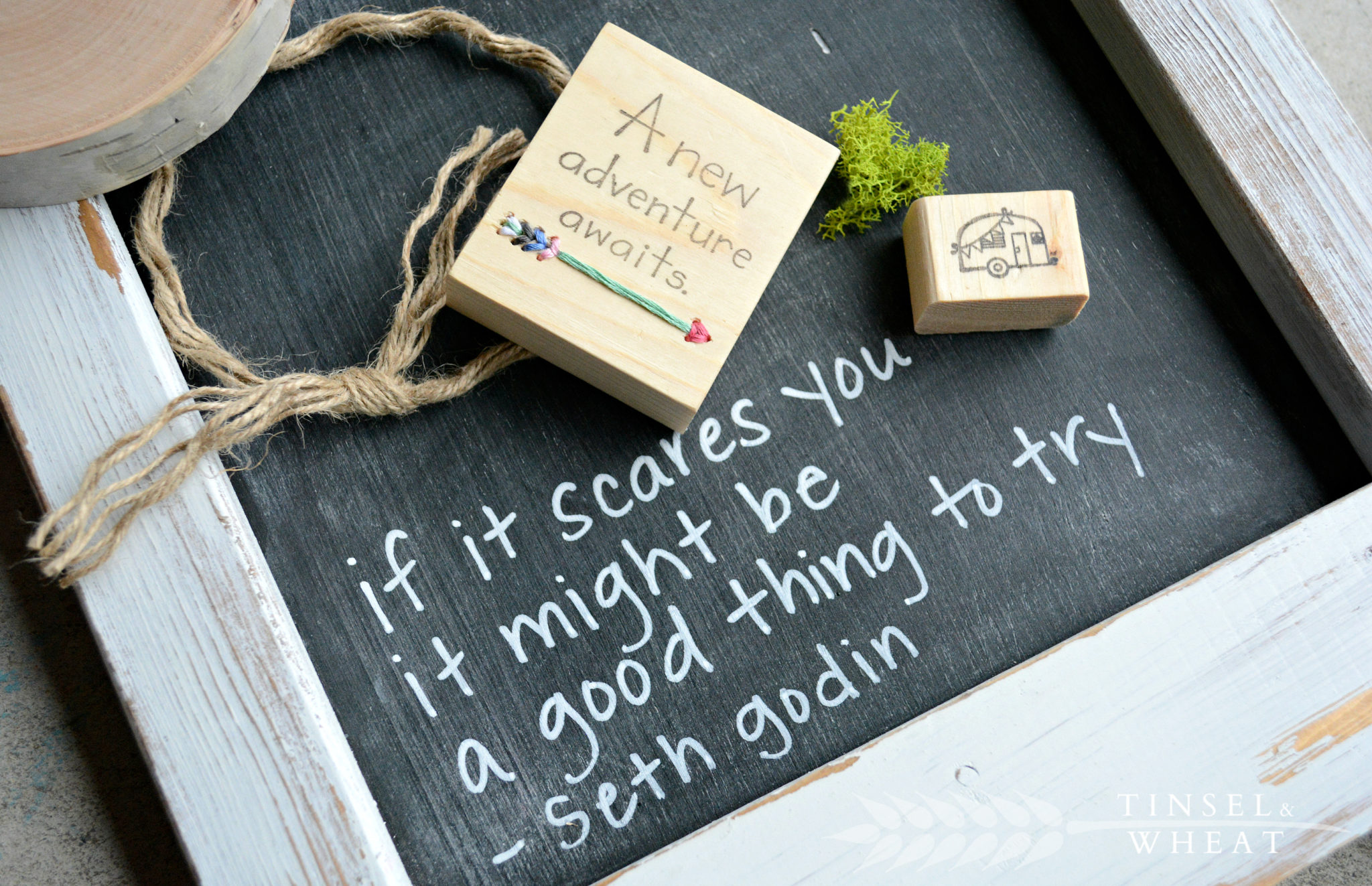 If it scares you it might be a good thing to try quote