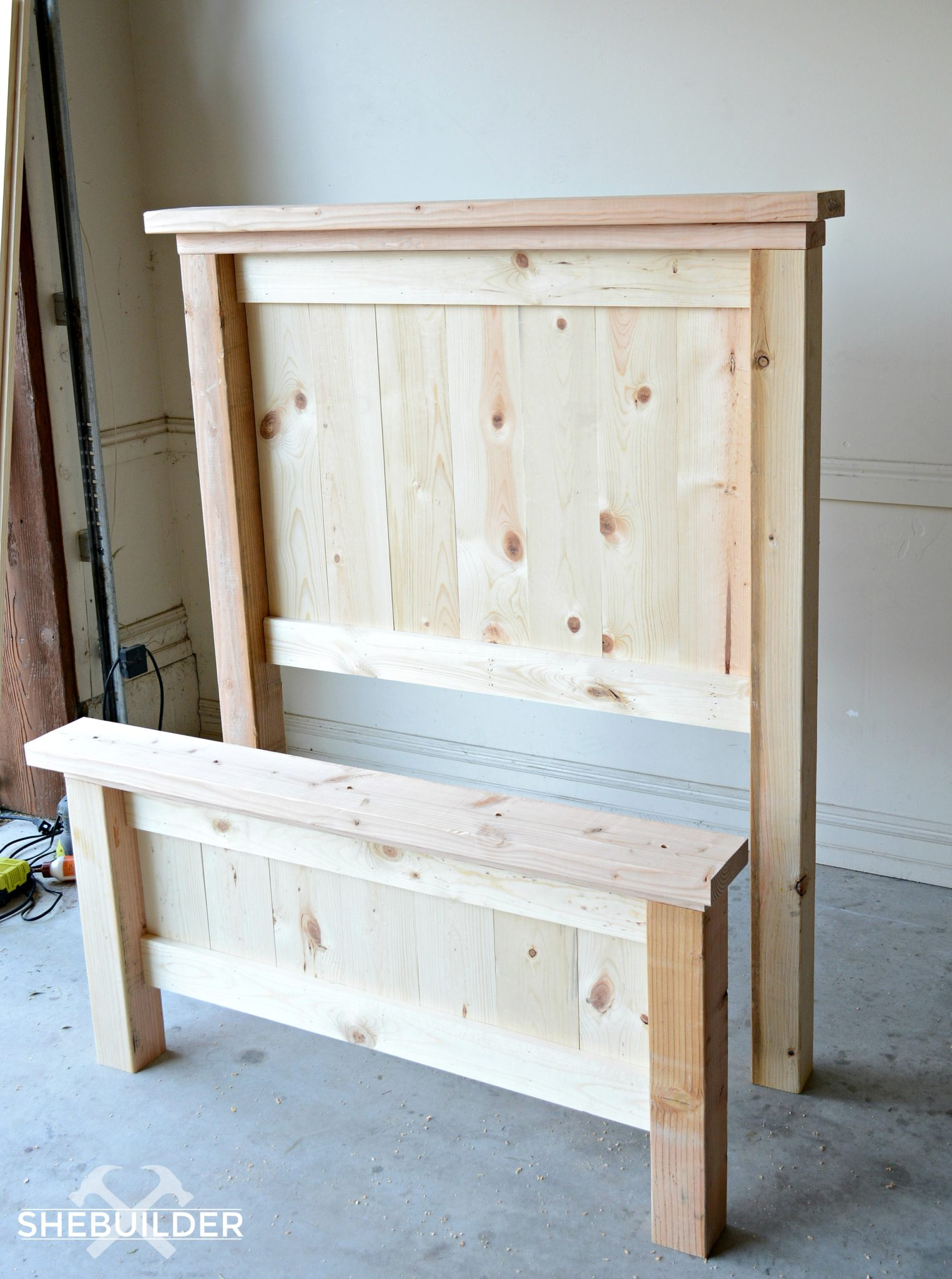 DIY Headboard and footboard