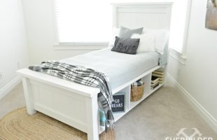 Traditional Farmhouse Bed with Storage