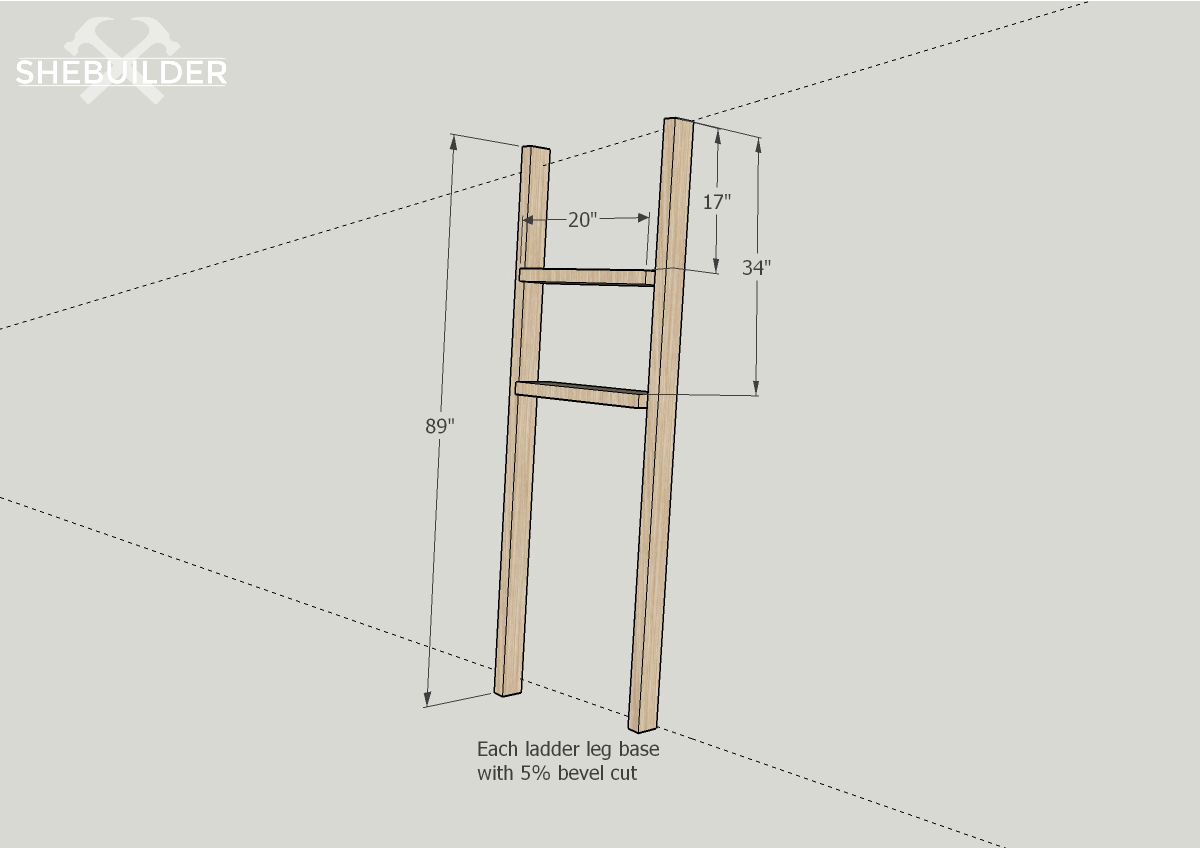 Above Toilet Storage Ladder Build Plans